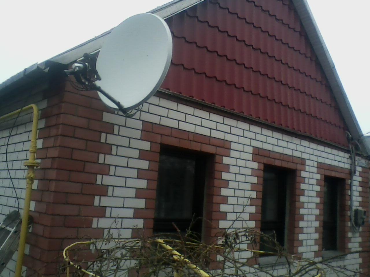 Установка спутника в районе пос.Сухачёвки (Днепропетровск)
